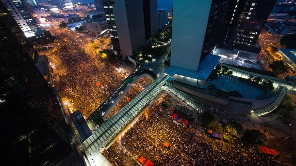 Massendemonstration in Hong Kong
