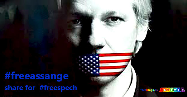 free assange for free spech